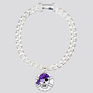 Purple Pirate Crossbones Bracelet