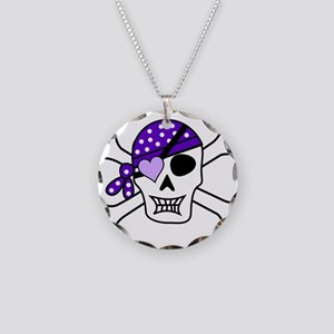 Purple Pirate Crossbones Necklace