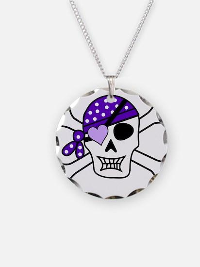 Purple Pirate Crossbones Necklace