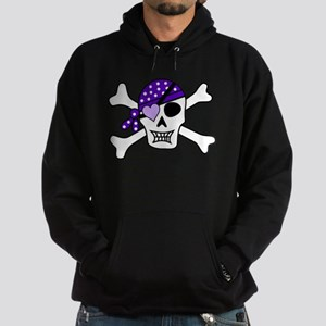 Purple Pirate Crossbones Hoodie