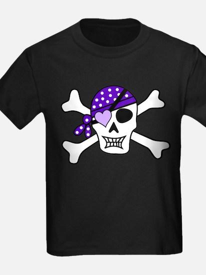 Purple Pirate Crossbones T-Shirt