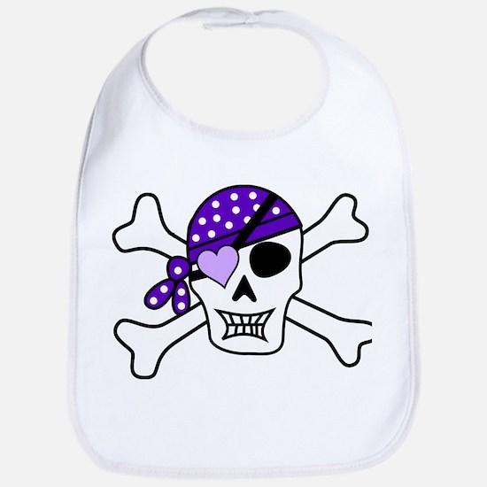 Purple Pirate Crossbones Bib