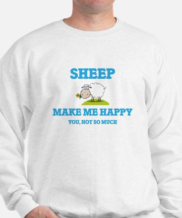 Sheep Make Me Happy Sweatshirt