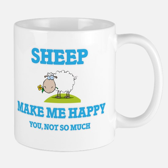 Sheep Make Me Happy Mugs