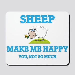 Sheep Make Me Happy Mousepad