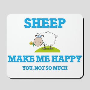 Sheep Make Me Happy Mousepad