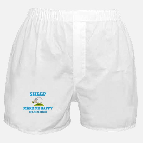 Sheep Make Me Happy Boxer Shorts