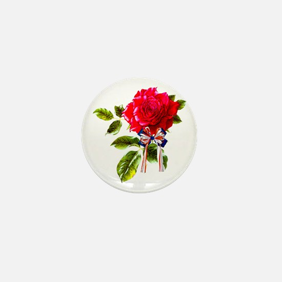 Independence Day Rose Mini Button (10 pack)