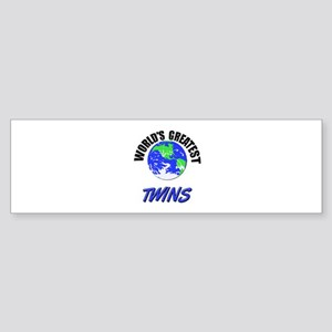 World's Greatest TWINS Bumper Sticker