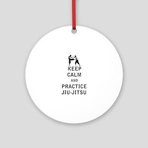 Keep Calm and Practice Jiu Jitsu Ornament (Round)