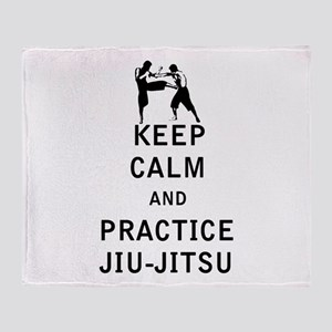 Keep Calm and Practice Jiu Jitsu Throw Blanket
