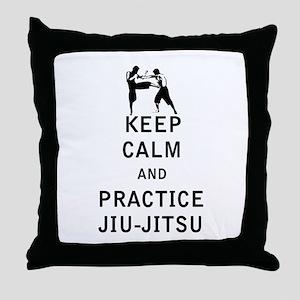 Keep Calm and Practice Jiu Jitsu Throw Pillow