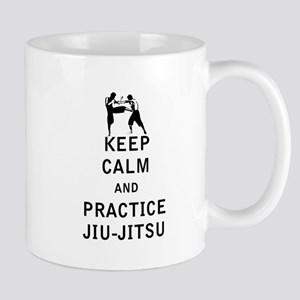 Keep Calm and Practice Jiu Jitsu Mugs