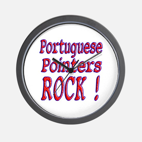 Portuguese Pointers Wall Clock