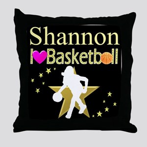 BASKETBALL GIRL Throw Pillow