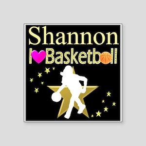 "BASKETBALL GIRL Square Sticker 3"" x 3"""