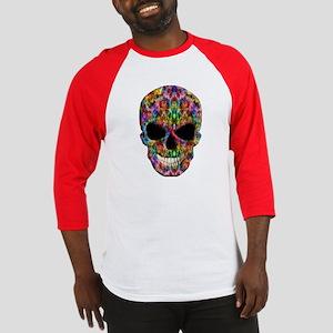 Colorful Fire Skull Baseball Jersey
