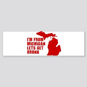 MICHIGAN SHIRT, MICHIGAN, M Bumper Sticker