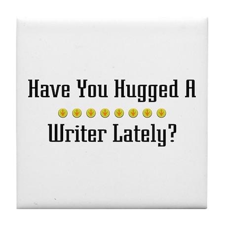 Hugged Writer Tile Coaster