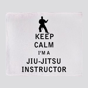 Keep Calm I'm a Jiu-Jitsu Instructor Throw Blanket