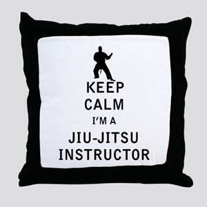 Keep Calm I'm a Jiu-Jitsu Instructor Throw Pillow