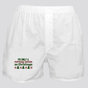 Christmas Morning Person Boxer Shorts