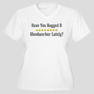 Hugged Woodworker Women's Plus Size V-Neck T-Shirt