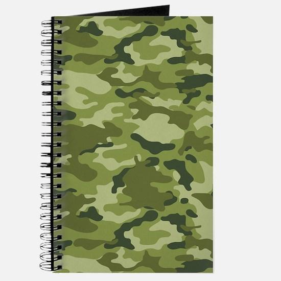 Green Camo Pattern Journal