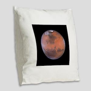 mars Burlap Throw Pillow