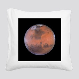 mars Square Canvas Pillow