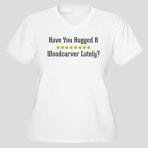 Hugged Woodcarver Women's Plus Size V-Neck T-Shirt