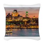 Quebec City Woven Throw Pillow