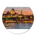 Quebec City Round Car Magnet