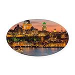 Quebec City Oval Car Magnet