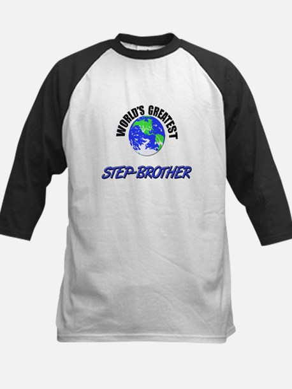 World's Greatest STEP-BROTHER Kids Baseball Jersey