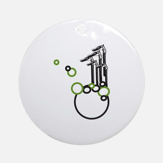 Horse And Bubbles Ornament (Round)