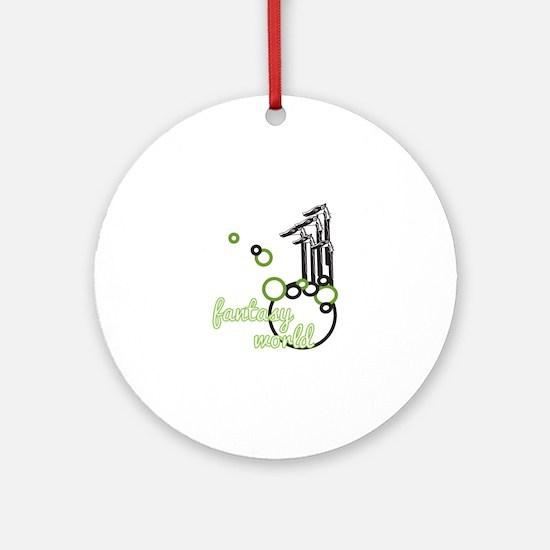 Fantasy World Ornament (Round)