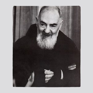 Padre Pio Throw Blanket