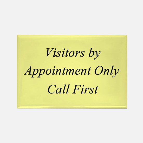 Visitors by Appointment Only Rectangle Magnet