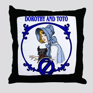 Dorothy and Toto Throw Pillow
