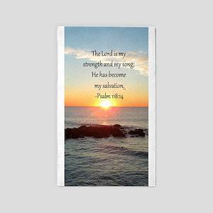 PSALM 118:14 3'x5' Area Rug