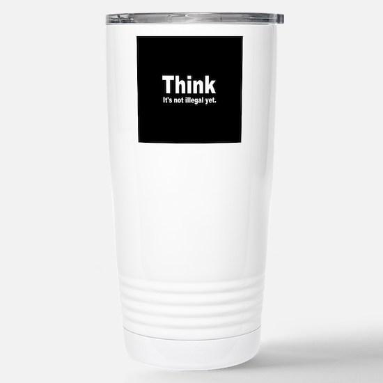 THINK ITS NOT ILLEGAL YET DARK BUTTON Mugs