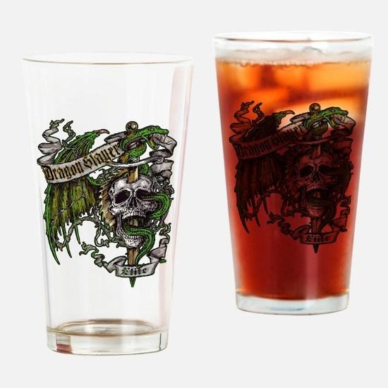 Dragon Slayer Crest Drinking Glass