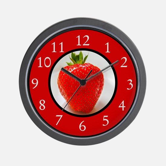 Cute Strawberries Wall Clock