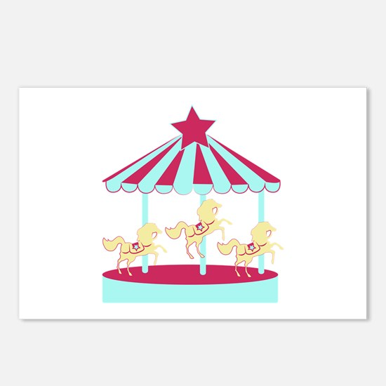 Carousel Horse Postcards (Package of 8)