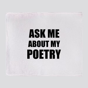 Ask me about my Poetry Throw Blanket