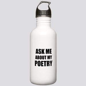 Ask me about my Poetry Sports Water Bottle