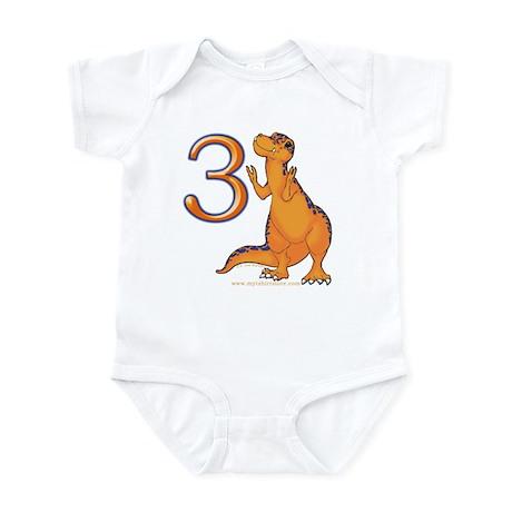 Kids Dino 3rd Birthday Gifts Infant Bodysuit
