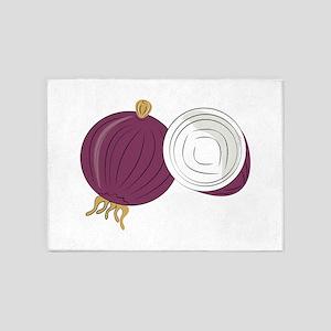 Purple Onion 5'x7'Area Rug