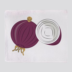 Purple Onion Throw Blanket